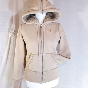 AEO   Hooded Jacket Fur Lined Hood  Small